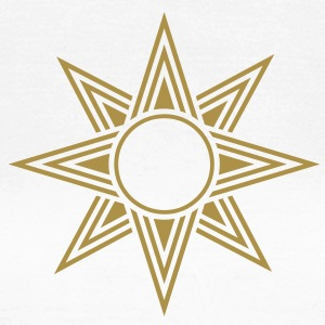 Star Of Ishtar - Venus Star, vector, Symbol of the great Babylonian Goddess of love Ishtar (Inanna)  T-shirts - T-shirt dam