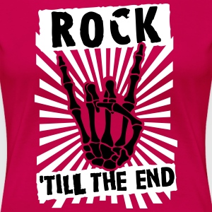 rock 'till the end T-shirts - Premium-T-shirt dam