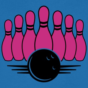 bowling ball and pins T-shirts - T-shirt med v-ringning herr