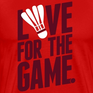 badminton - love for the game T-shirts - Mannen Premium T-shirt