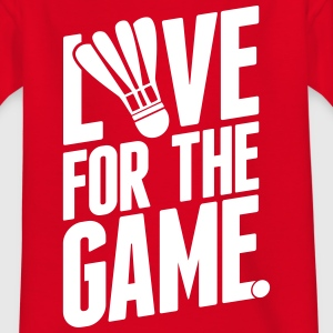badminton - love for the game Shirts - Kinderen T-shirt