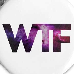 White _wtf + + MOUSTACHE HIPSTER GEEK + + SWAG STYLE + Buttons - Buttons large 56 mm