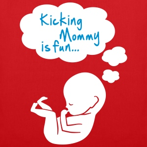 kicking mommy is fun... Tassen & rugzakken - Tas van stof