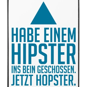 hipster - hopster Phone & Tablet Cases - iPhone 4/4s Hard Case