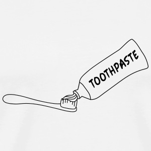 Toothpaste And Toothbrush T-shirts - Herre premium T-shirt