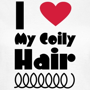 I Love My Coily Hair T-Shirts - Women's T-Shirt
