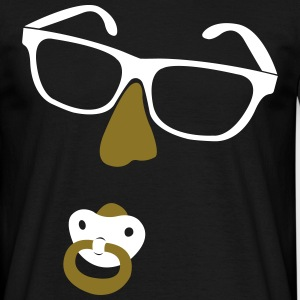 Glasses with nose and pacifiers  T-Shirts - Men's T-Shirt