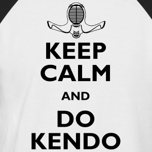keep calm and do kendo - Camiseta béisbol manga corta hombre