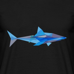 Geometric Shark T-Shirts - Men's T-Shirt