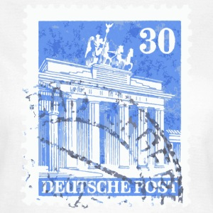Berlin T-Shirt Brandenburger Tor Briefmarke 1948 - Frauen T-Shirt