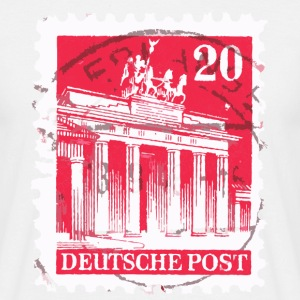 Berlin T-Shirt Brandenburger Tor Briefmarke 1948 - Männer T-Shirt