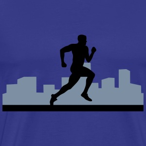 running, runner, - Men's Premium T-Shirt