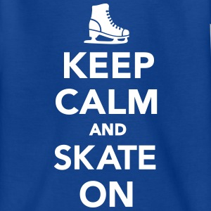 Keep calm and skate on T-Shirts - Kinder T-Shirt