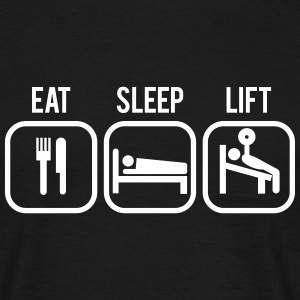 Eat sleep lift | Mens Tee - Men's T-Shirt