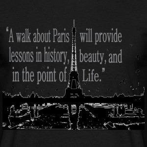 Paris Quotes Men's Standard T-shirt - Men's T-Shirt