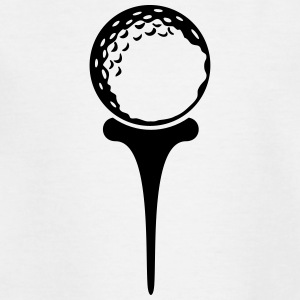 golf ball on tee (2c) Shirts - Teenage T-shirt