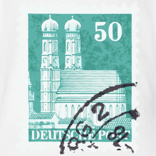 München Briefmarke 50er Grün 1948