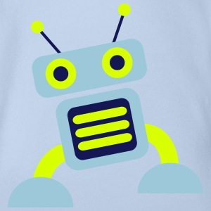 robot 3c Shirts - Organic Short-sleeved Baby Bodysuit