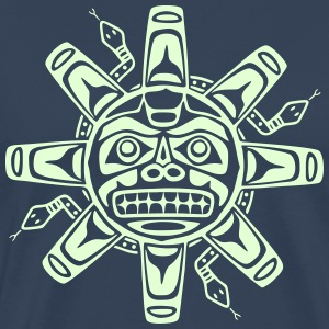 Native american sun, tribal art symbol, indians, T-shirts - Herre premium T-shirt
