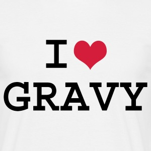 White I Love Gravy Men's Tees - Men's T-Shirt