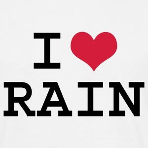 White I Love Rain Men's Tees - Men's T-Shirt
