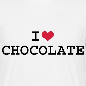 White I Love Chocolate Men's Tees - Men's T-Shirt