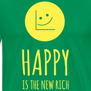 Happy is the new rich - Men's Premium T-Shirt