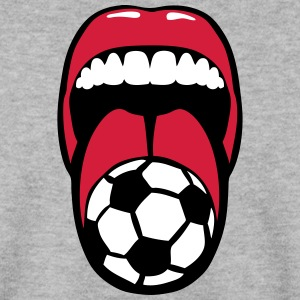 foot tire langue language mouth football Sweat-shirts - Sweat-shirt Homme