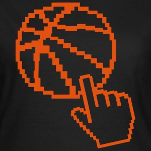 basketball pixel pointeur main ballon Tee shirts - T-shirt Femme
