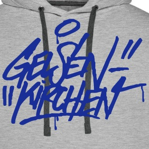 Gelsenkirchen Graffiti Ultras Fan Shirt - Männer Premium Hoodie