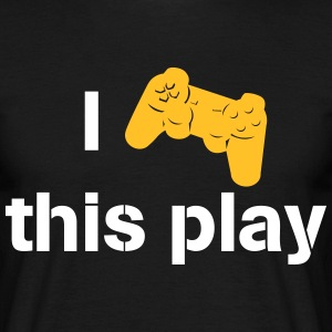 i love this play station T-shirts - Herre-T-shirt