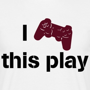 i love this play station Camisetas - Camiseta hombre