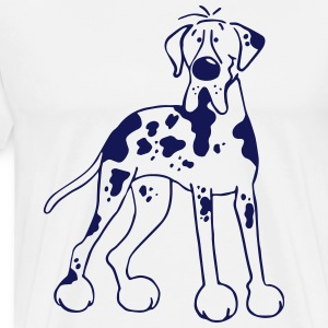 Deutsche Dogge - Hund - Doggen Cartoon T-Shirts - Männer Premium T-Shirt