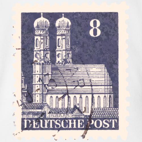 München Briefmarke 8er Blau 1948