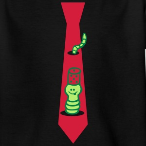 Tie with worm Shirts - Kids' T-Shirt