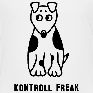 Kontroll Freak - Hund T-Shirts - Teenager Premium T-Shirt