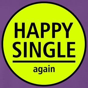 happy single again - Männer Premium T-Shirt