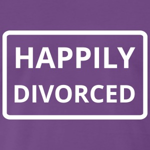 happily divorced - Männer Premium T-Shirt