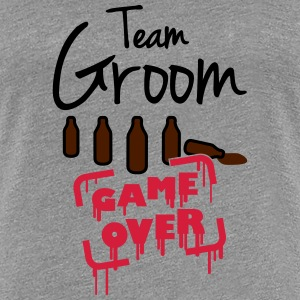 Team Groom Game Over T-skjorter - Premium T-skjorte for kvinner