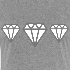 Diamonds T-shirts - Dame premium T-shirt