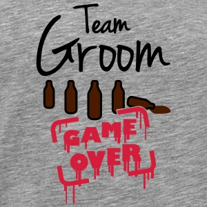 Team Groom Game Over Magliette - Maglietta Premium da uomo