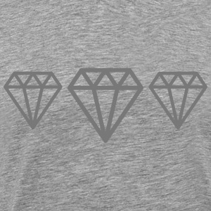 Diamonds T-shirts - Herre premium T-shirt