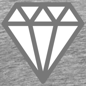 Diamond T-shirts - Herre premium T-shirt