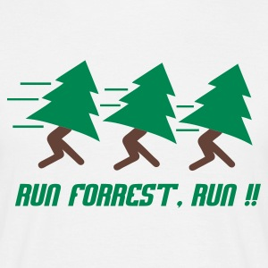 Wit Run Forrest, Run T-shirts - Mannen T-shirt