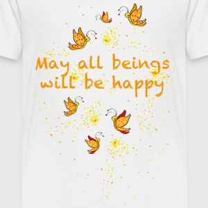 May all beings will be happy Camisetas - Camiseta premium niño