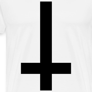 Cross Antichrist reversed 1c T-Shirts - Men's Premium T-Shirt