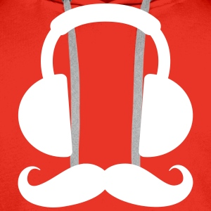 Headphone Mustache Gensere - Premium hettegenser for menn