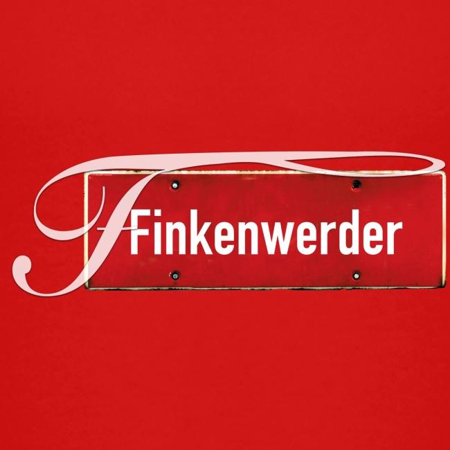(Hamburg-) Finkenwerder vintage Ortsschild mit Schmuckbuchstabe