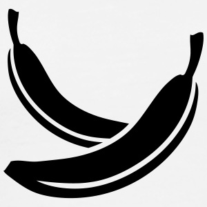 Two Bananas Design T-shirts - Mannen Premium T-shirt