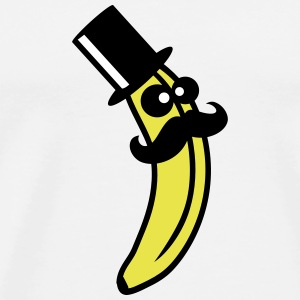 Sir Mustache Banana T-Shirts - Men's Premium T-Shirt